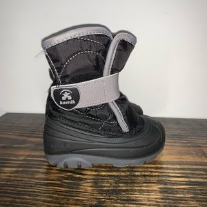Boys Kamik Snow Boots. Toddler Size 6 Black NIB